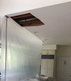 Water Damage from a Broken Pipe in Harrison, NY (2)